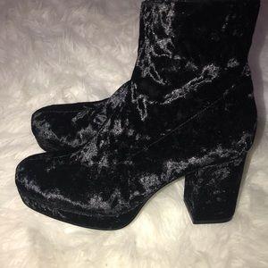 Asos Truffle Collection Velvet Platform Boot